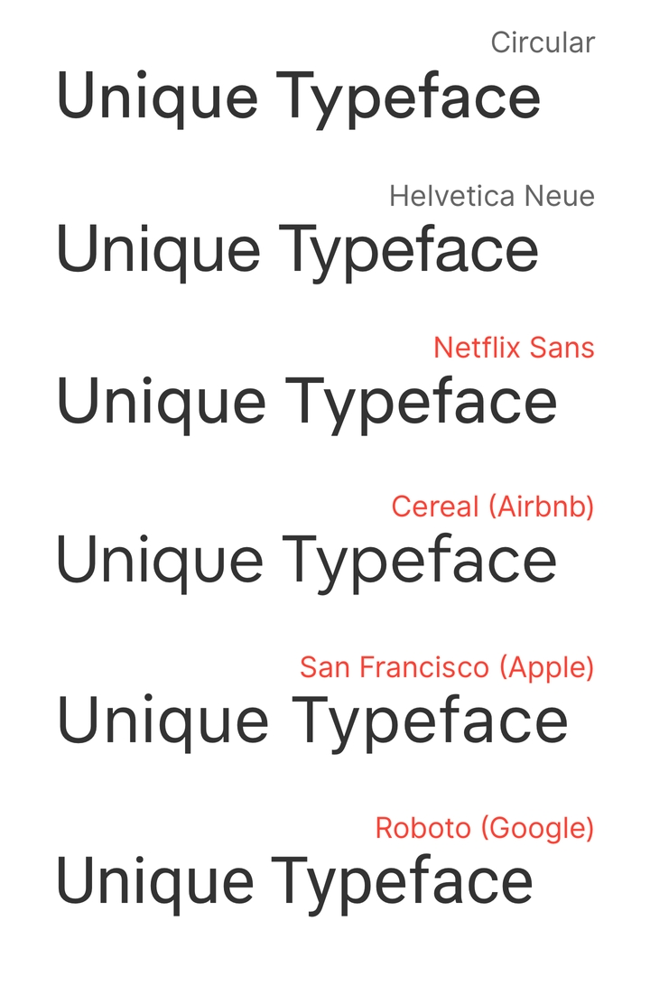 most custom typefaces look the same