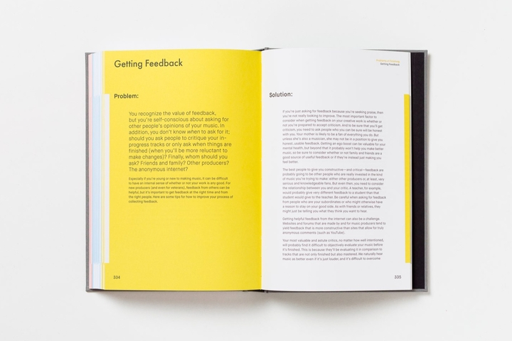 The book open to the Getting Feedback chapter